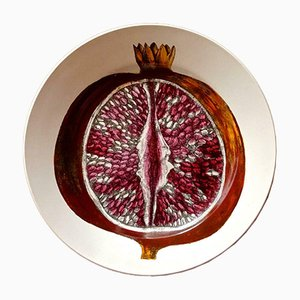 Plato Pomegranate de cerámica de Atelier Fornasetti, años 50