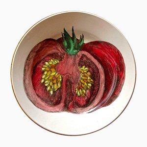 Piatto The Tomato in ceramica di Atelier Fornasetti, anni '50