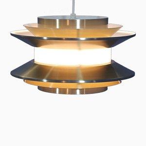 Lampe à Suspension en Aluminium et Laiton par Carl Thore pour Granhaga Metallindustri, Suède, 1970s