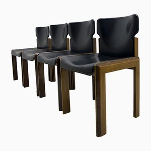Italian Modern Leather Dining Chair by Luciano Frigerio, 1980s