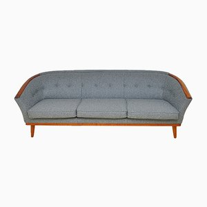 Scandinavian Teak & Wool Sofa, 1950s