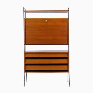 Mueble vintage de teca con escritorio de String