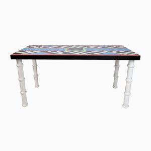 Madras Table by Nathalie Du Pasquier for Memphis, 1986