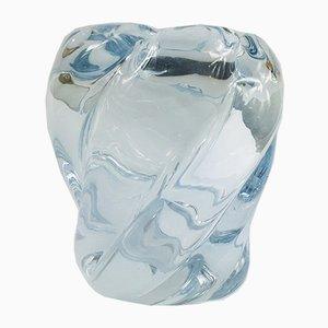 Schwedische Vase aus Kunstglas von Edvin Ohrstrom für Orrefors, 1980er