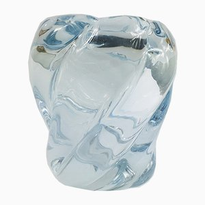 Swedish Art Glass Vase by Edvin Ohrstrom for Orrefors, 1980s