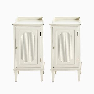 Antique Gustavian Style Nightstands, Set of 2
