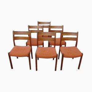 Esszimmerstühle aus Teak von EMC Furniture A/S, 1960er, 6er Set