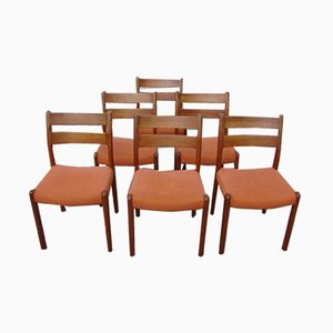 Teak Dining Chairs from EMC Furniture A/S, 1960s, Set of 6
