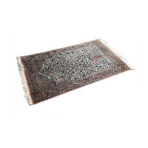 Handgemachter Teppich aus Wolle & Seide, 1950er