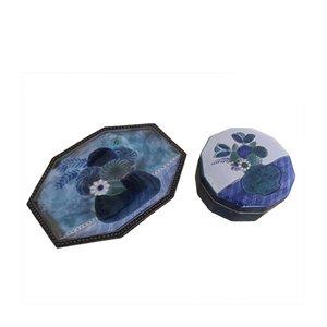 Ceramic Box & Vide Poche Set from Frères Cloutier, 1970s