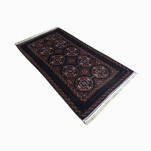 Handgefertigter afghanischer Teppich aus Wolle & Seide, 1950er