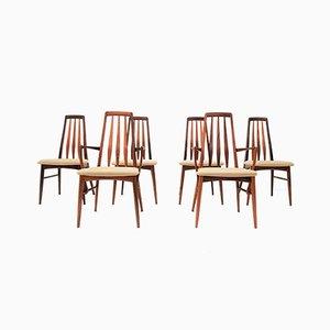 Modell Eva Esszimmerstühle aus Palisander von Niels Koefoed für Koefoeds Møbelfabrik, 1960er, 6er Set