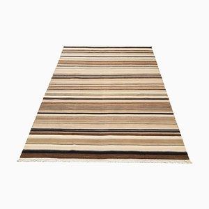 Brown Striped Kilim Rug, 1980s