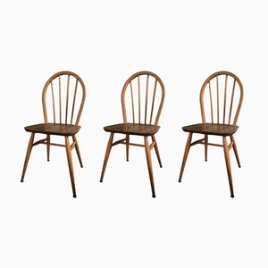 Windsor Dining Chairs by Lucian Ercolani for Ercol, 1940s, Set of 3