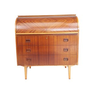 Vintage Roll Top Secretaire by Egon Ostergaard