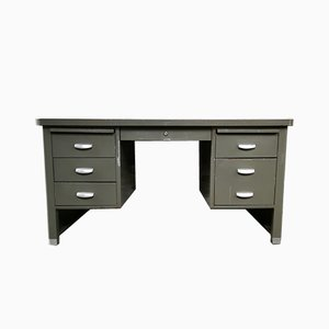 Mid-Century Grey Desk from Metalclub, 1950s