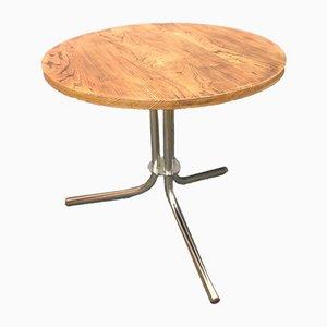 Industrial Oak & Tubular Steel Coffee Table, 1970s