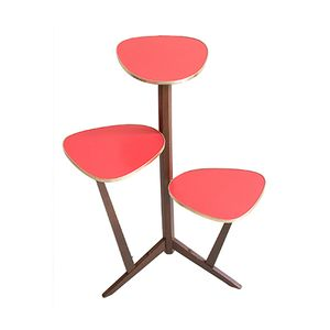 Mid-Century Red Plant Stand