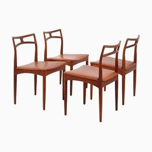 Chaises de Salle à Manger Modèle 96 en Teck par Johannes Andersen pour Christian Linneberg, 1960s, Set de 4