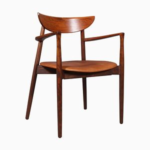 Rosewood & Leather Armchair by Harry Østergaard for Randers Møbelfabrik, 1960s