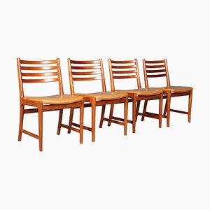 Chaises de Salle à Manger Vintage par Kai Lyngfeldt Larsen pour Søren Willadsen Møbelfabrik, Set de 4
