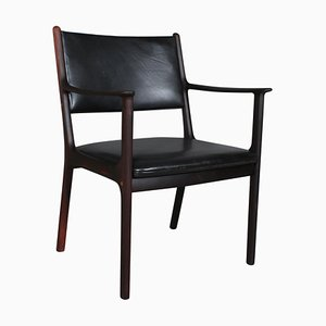 Modell PJ 412 Stuhl von Ole Wanscher für Poul Jeppesens Møbelfabrik, 1960er