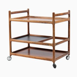 Mid-Century Rosewood Bar Cart by Johannes Anderson for CFC Silkeborg
