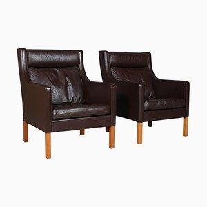 Modell 2431 Sessel von Børge & Peter Mogensen für Fredericia, 1960er, 2er Set