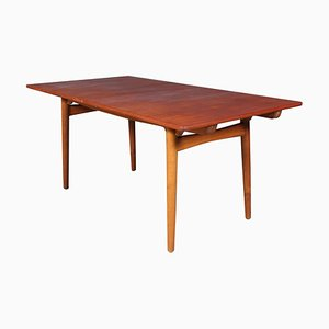 Tavolo da pranzo AT310 allungabile di Hans J. Wegner per Andreas Tuck, anni '60