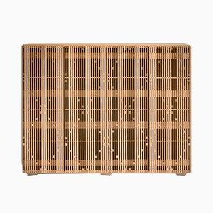 Oak & Brass Milione Sideboard with Brass Top by Debonademeo for Medulum