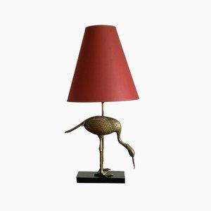 Mid-Century Brass Heron Table Lamp