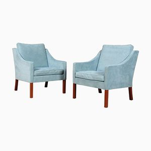 Model 2207 Lounge Chairs by Børge Mogensen for Fredericia, 1960s, Set of 2