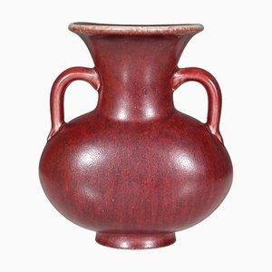 Vase en Grès Vernis Bordeaux par Bode Willumsen pour Royal Copenhagen, 1960s