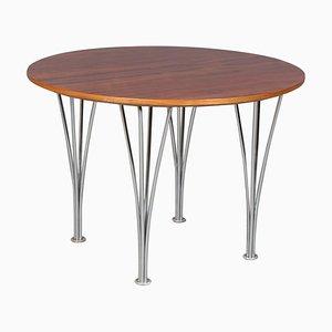 Tavolino da caffè in noce di Piet Hein & Arne Jacobsen per Fritz Hansen, anni '60