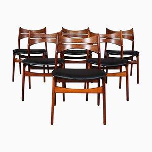 Modell 310 Stühle aus Palisander von Erik Buch für Chr. Christensen Møbelfabrik, 1960er, 6er Set