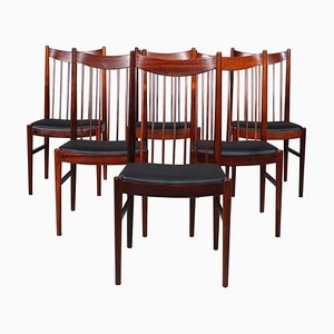 Chaises Modèle 422 en Palissandre par Arne Vodder pour Sibast, 1960s, Set de 6