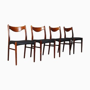 Chaises de Salle à Manger par Arne Wahl pour Glyngøre Stolefabrik, Danemark, 1960s, Set de 4