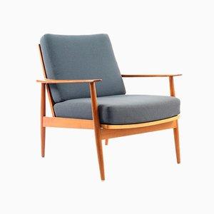 Mid-Century Sessel mit Gestell aus Teak von Knoll, 2er Set