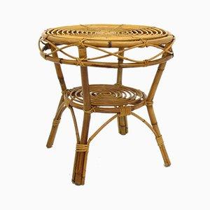 Vintage Rattan Table, 1970s