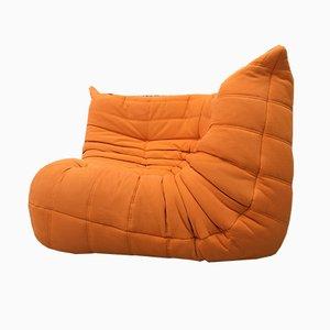 Canapé d'Angle Togo Vintage Orange par Michel Ducaroy pour Ligne Roset
