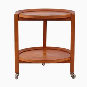 Mid-Century Danish Teak Tea Cart from Sika Møbler