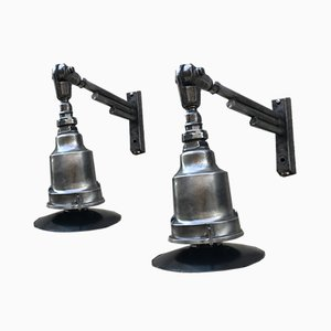 Railway Station Lamps, 1940s, Set of 2
