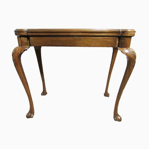Antique Burr Walnut Queen Anne Card Table