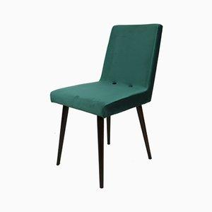 Vintage Green Velvet Chairs, 1970s, Set of 2