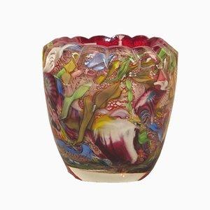 Vintage Glasvase von Dino Martens für Aureliano Toso