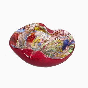 Vintage Glass Bowl by Dino Martens for Aureliano Toso