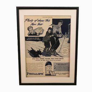 Vintage Phillips Werbedruck, 1949