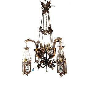 Antike spanische Renaissance Lampe