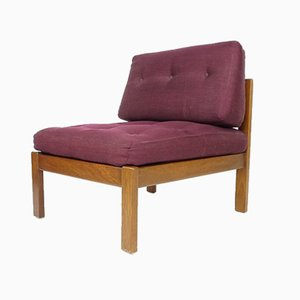 Mid-Century Aubergine Lounge Chair