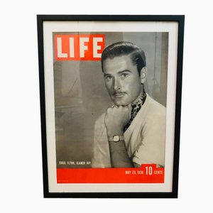 Vintage LIFE Magazine Cover with Errol Flynn, 1938